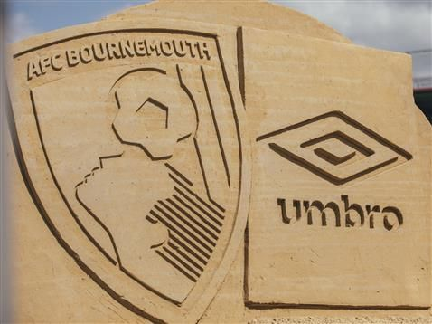 Behind the scenes as AFC Bournemouth and Umbro announce their partnership with a stunning sand sculpture