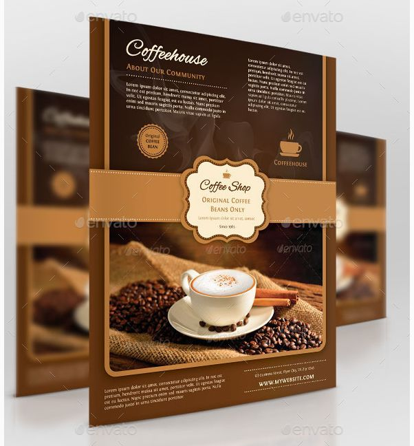 20 best Best Event Flyer Templates images on Pinterest Events - coffee shop brochure template