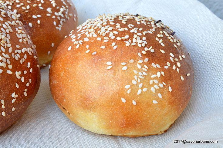 reteta chifle burgeri cu susan sau simple
