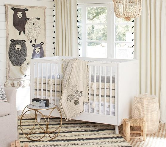 Organic Sleepy Sheep Nursery Bedding Set | Pottery Barn Kids
