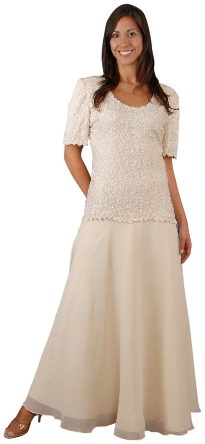 Chiffon gown perfect for a simple wedding dress or mother for Pinterest wedding dresses for mother of the bride