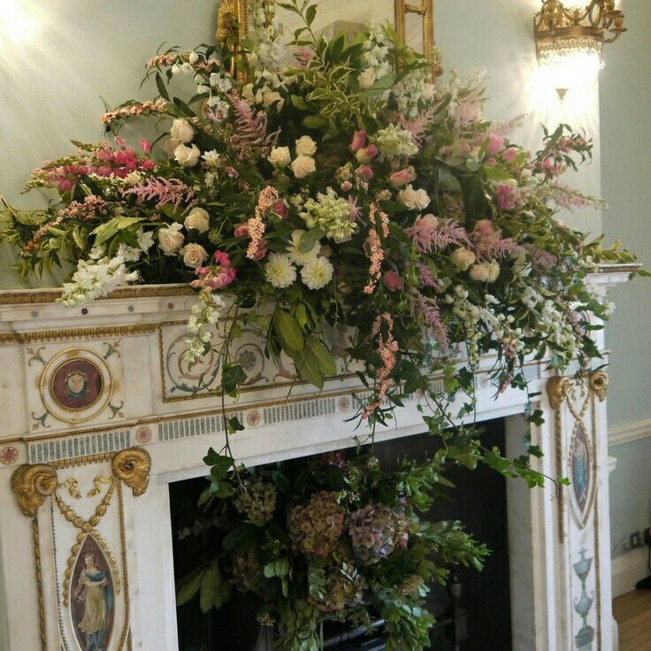 Mantel Arrangements: 8 Best Mantelpiece Flowers Images On Pinterest