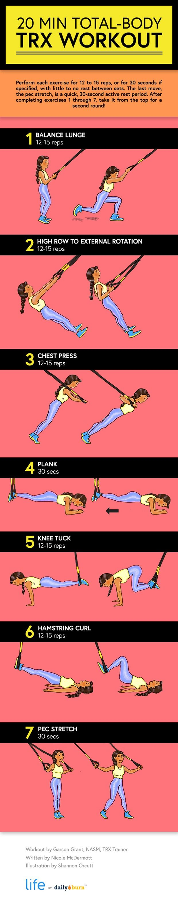 The 20 Minute Trx Workout Infographic Workout