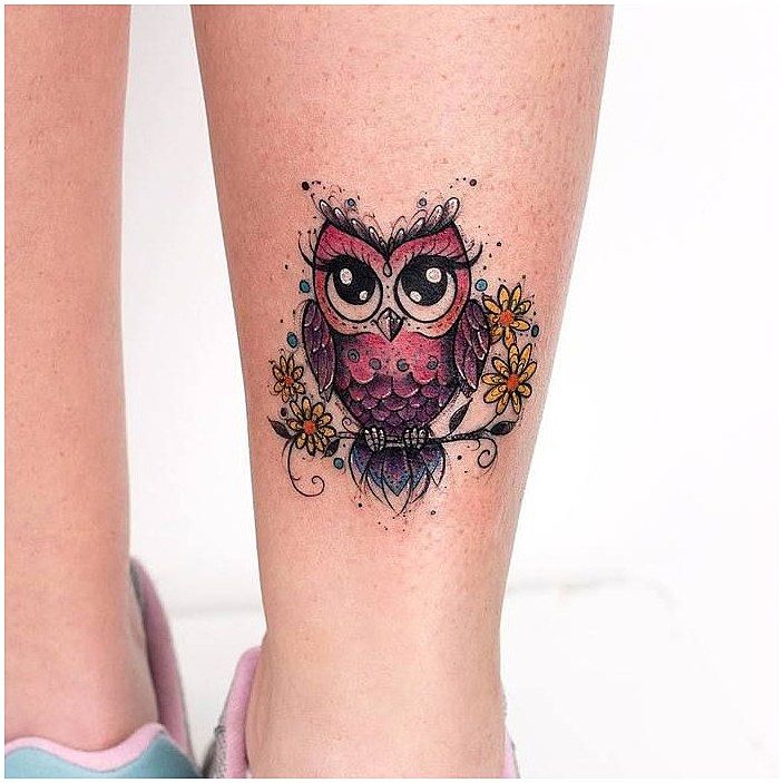 Tattoo History And What They Mean Today Cute Owl Tattoo Colorful Owl Tattoo Owl Tattoo Small