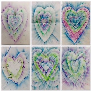 Kim & Karen: 2 Soul Sisters (Art Education Blog): Smeared Hearts