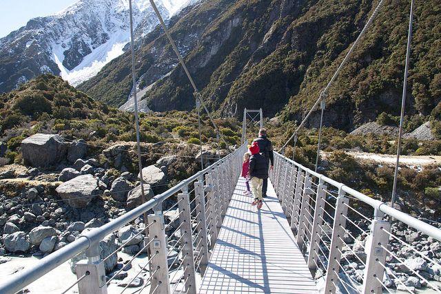 First bridge, Hooker Valley walk