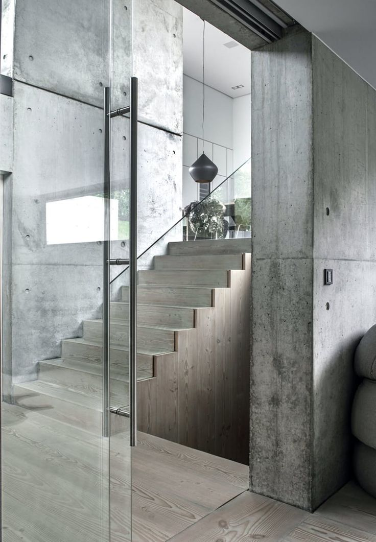 Solid wood stair - Douglas by Dinesen