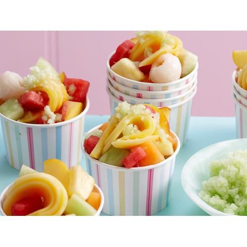 Honeydew granita recipe - By Woman's Day, This is a delicious sorbet or granita and a great way to use any summer fruit - we used watermelon, mango, rockmelon, pineapple and lychees.