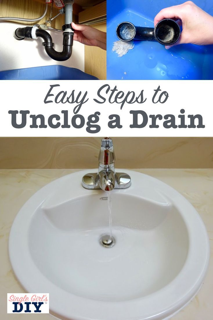 How To Clear A Clogged Sink Drain Clogged Sink Drain Unclog
