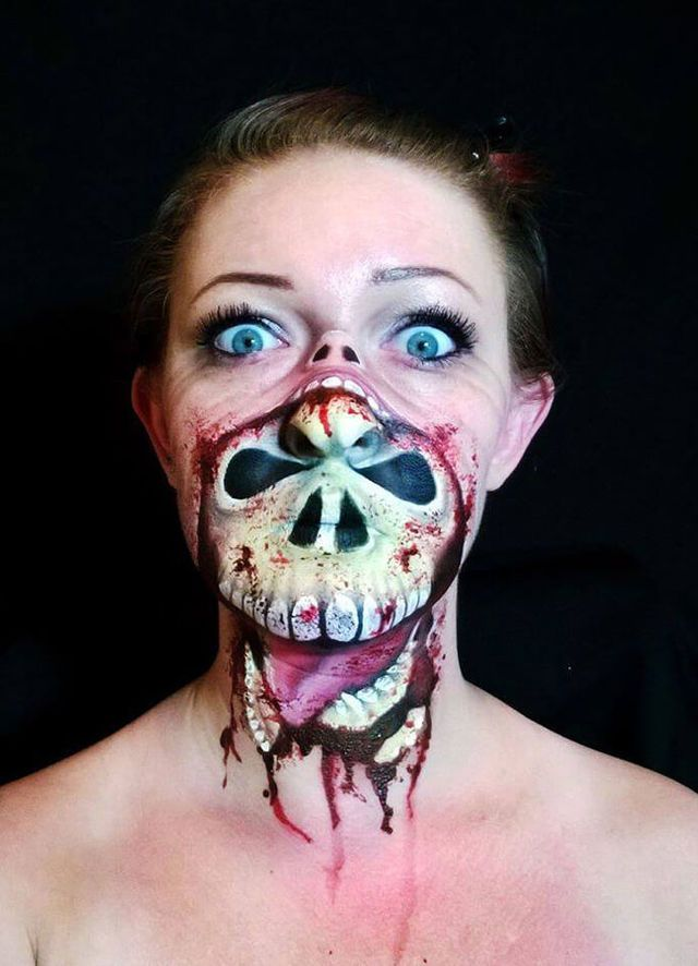 you wont believe what this artist can do with face paint - Halloween Skull Painted Face