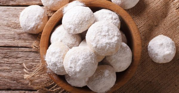 Mexican Wedding Cookies 1 cup butter, softened 1/2 cup powdered sugar 1 teaspoon vanilla 2 1/4 cups flour 3/4 cup pecans, finely chopped 1/4 teaspoon salt Powdered sugar, for rolling