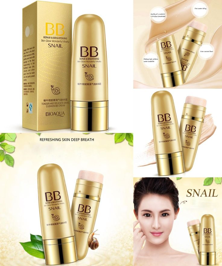 [Visit to Buy] Snail CC &BB Air Cushion Face Care Cream DD cremes Bare Strong Whitening Beauty Moisturizing Make up Brand skin 79 foundation #Advertisement