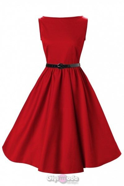 Kırmızı kloş elbise... Bayıldım...