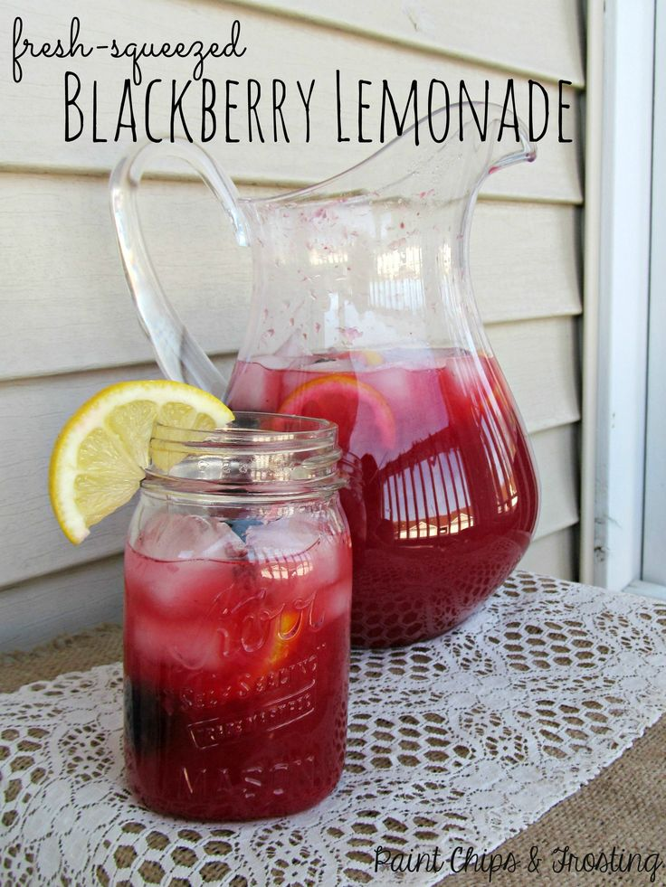 This Fresh-Squeezed Blackberry Lemonade is perfect year-round!