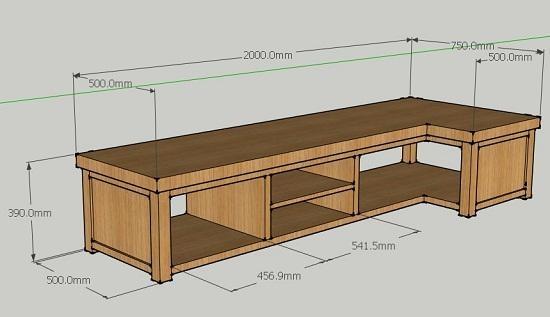 L shaped corner tv