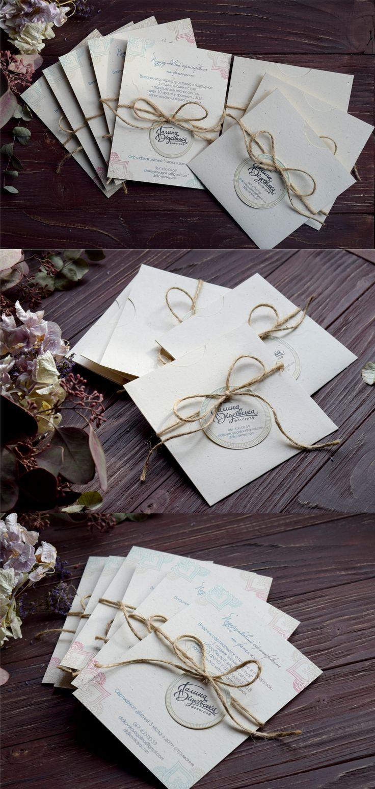 Gift certificates and cd envelopes. Production for photographers. Подарочные сертификаты и конверты для дисков.  Продукция для фотографов https://www.vk.com/ks_box https://www.facebook.com/ks.designvision