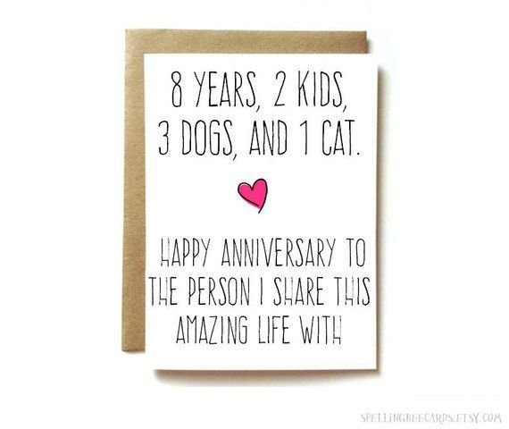 Personalized Anniversary Card Husband Anniversary Card Wife