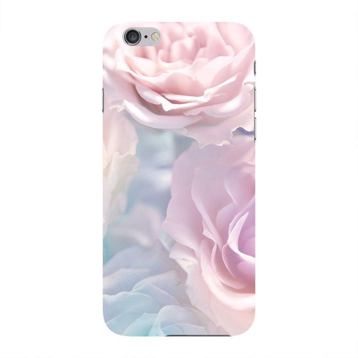 Schöner hellrosa Rosen-Telefon-Kasten