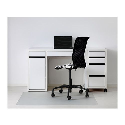micke desk white cable drawer unit and cabinets. Black Bedroom Furniture Sets. Home Design Ideas