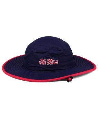 Top of the World Ole Miss Rebels Training Camp Bucket Hat - Navy/Red M/L