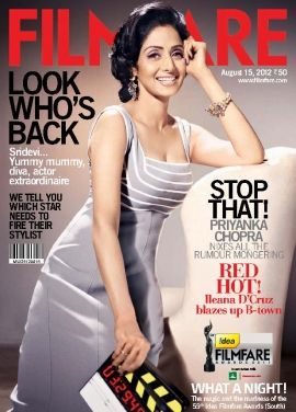 #Sridevi on the cover page of #Filmfare