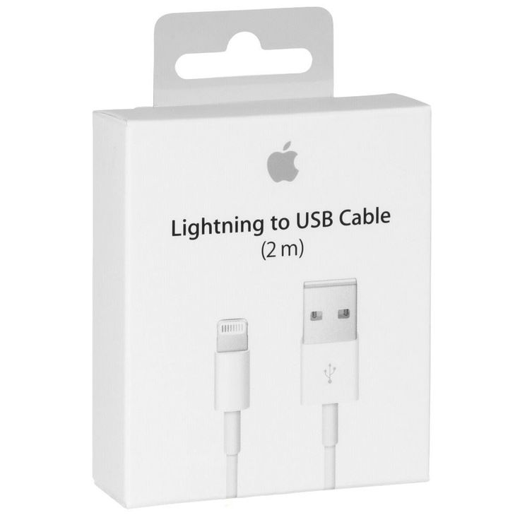 Apple Lightning 2 meter extra lång för Iphone & Ipad #Sunnerbergteknik