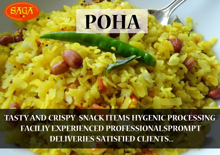 Saga Delicious & Hygienic Poha #poha_manufacturer #tasty_food #Indian_food #instant_food_manufacturer http://www.mbgpaam.com/paam-eatable/more.php
