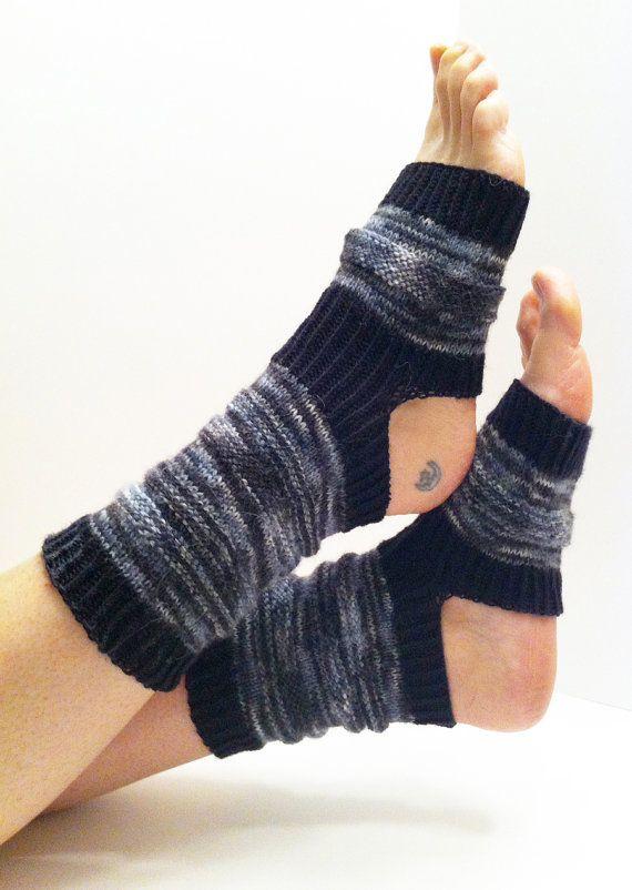 Hand Knit Yoga Socks Holiday Gift Socks Pilates Socks by LizSox, $30.00
