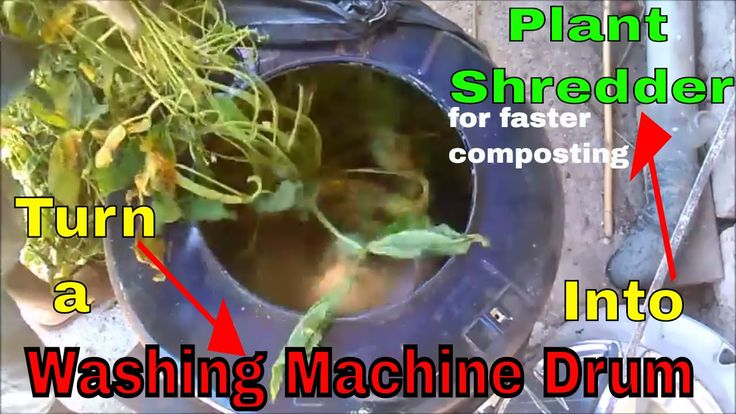 Turn A Old Washing Machine Drum Into A Plant Shredder For Faster Compost...