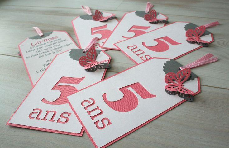Les invitations d'anniversaire de Lily-Rose