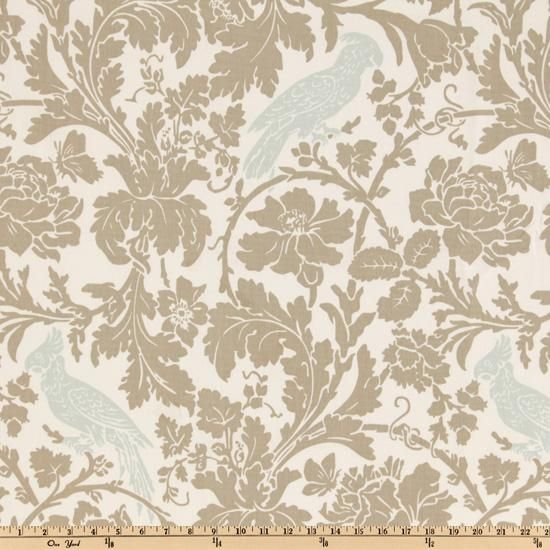 Premier Prints Barber Taupe/Robin  Item Number: UE-669  OUR PRICE: $7.48 PER YARD  Compare At: $12.99 per Yard