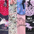Emoji Unicorn Rainbow Women's Pyjamas Pjs Set Shorts Vest Summer Ladies Girls
