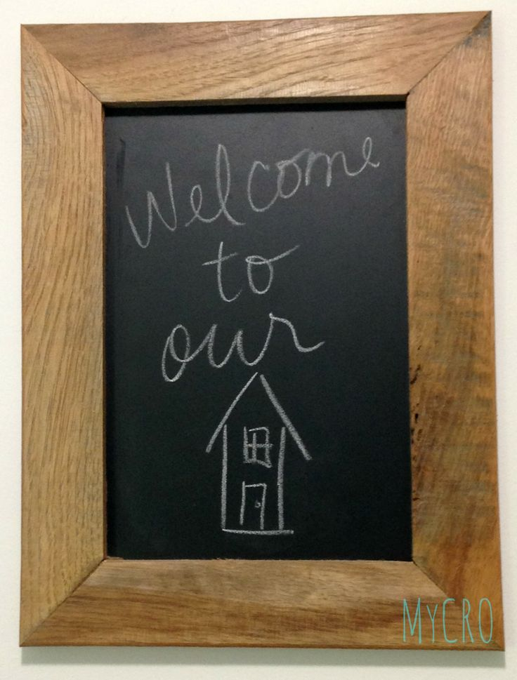 Handcrafted chalkboard made from upcycled, light colored pallet wood #handcrafted #upcycled #decor #gifts #pallet #chalkboard #chalk #teacher #event #classroom #wedding #rehearsal #reception #home #house #MyCRO #WM