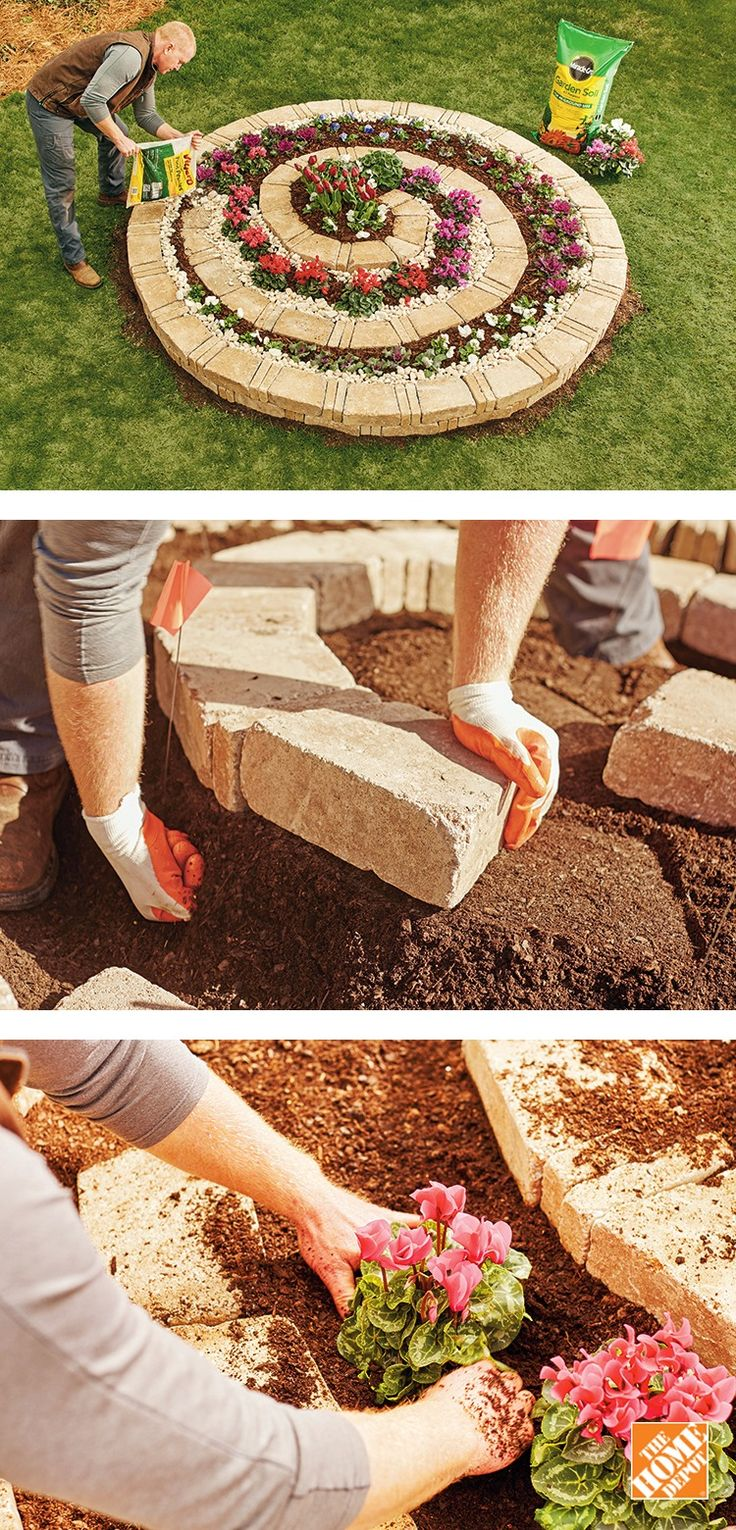 With this DIY spiral garden, gravity allows water to drain freely from the top of the spiral and seep to all layers, creating a dry zone at the top and moist area at the bottom. This gives you many options when choosing plants for your garden. Follow our step-by-step instructions to build a spiral garden in your backyard.