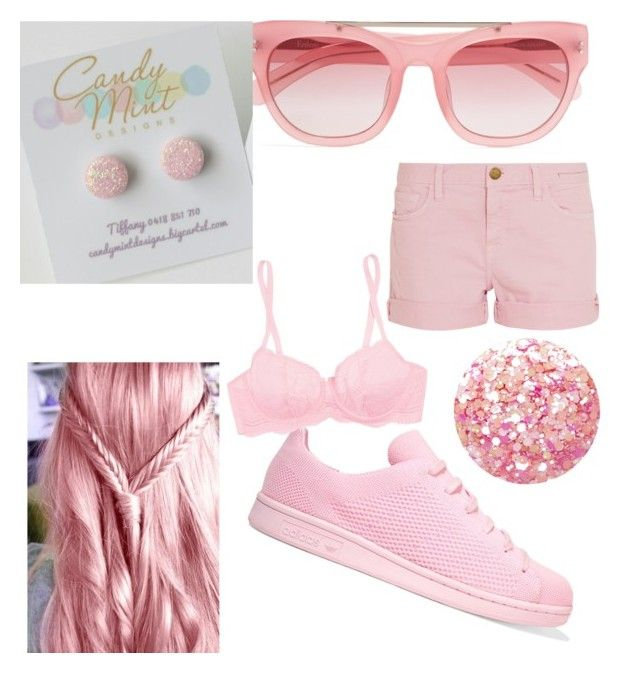 pastel pink by tiffany-facebook on Polyvore featuring polyvore fashion style Current/Elliott Cosabella adidas Originals Erdem Nails Inc. clothing