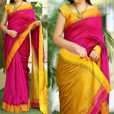 Shop Phenomenal pink & yellow printed silk Sarees online - Shopkio online from India's best online shopping site - Shopkio.com, offering latest collection at cheap prices with cash on delivery.