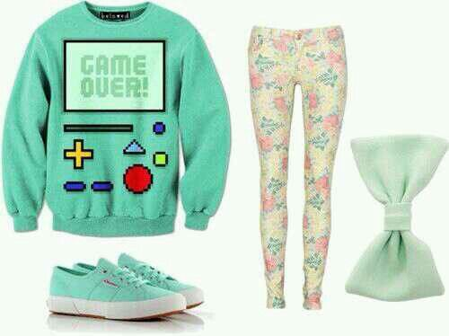 Adventure time outfit! Bmo<3