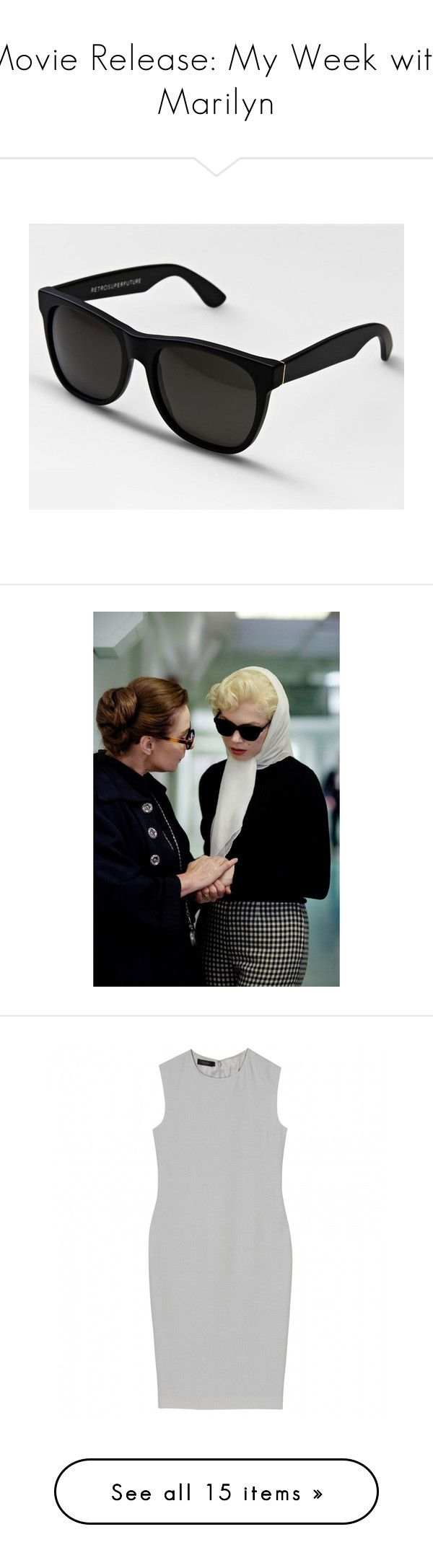 """""""Movie Release: My Week with Marilyn"""" by polyvore-editorial ❤ liked on Polyvore featuring Theyskens' Theory, Calvin Klein Collection, Patricia Nash, MaxMara, RetroSuperFuture, movie release, my week with marilyn, michelle williams, men's fashion and men's accessories"""