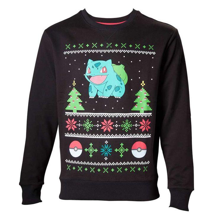 Pokemon - Bulbasaur Kerst unisex sweater zwart - Games anime merchandise