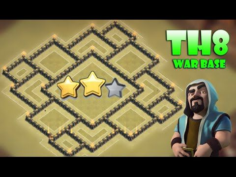 Clash Of Clans - NEW UPDATE - TH8 WAR BASE WITH AIR SWEEPER - ANTI 3 STA...