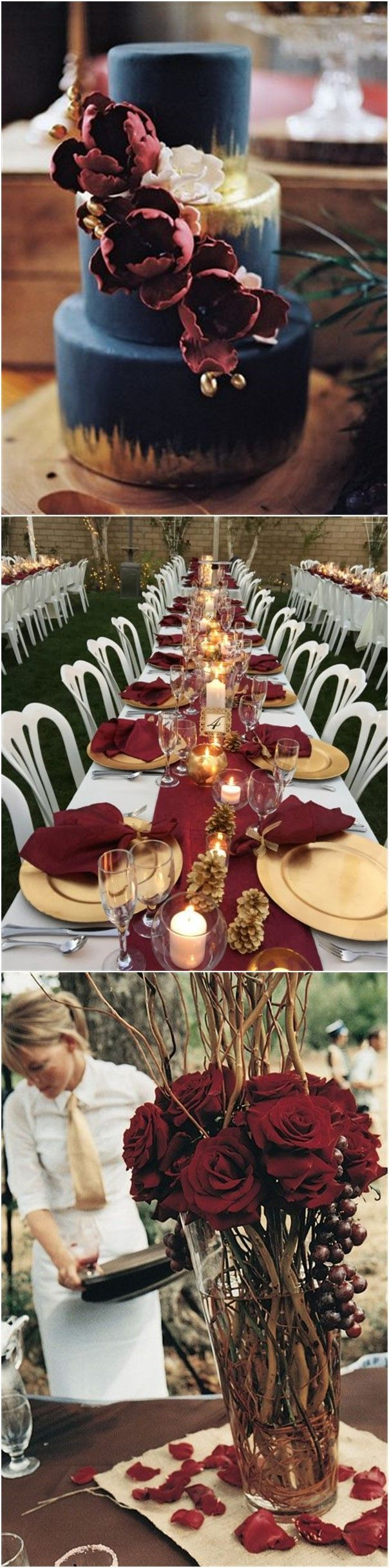 Wedding Colors » 22 Romantic Burgundy and Rose Gold Fall Wedding Ideas » ❤️ See more: http://www.weddinginclude.com/2017/07/romantic-burgundy-and-rose-gold-fall-wedding-ideas/
