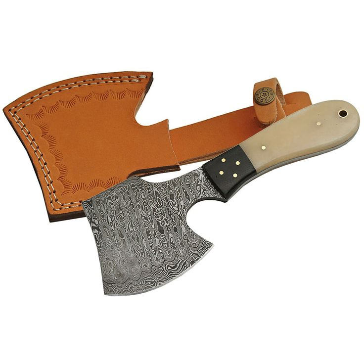Major Sale Rite Edge 8 Quot Damascus Hatchet Bone Handle