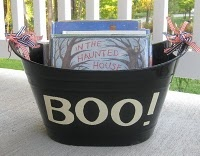 Halloween book basket