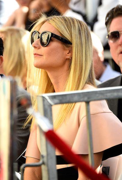 Gwyneth Paltrow Photos Photos - Actress Gwyneth Paltrow watches on as actor Rob…