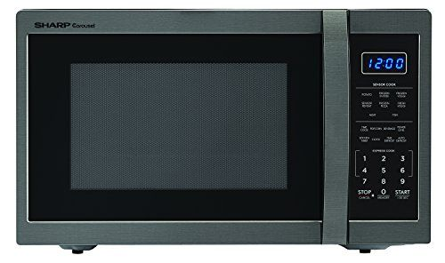 Sharp Zsmc1452ch 1 100 Watt Countertop Microwave Oven 1 4 Cubic Foot Black Stainless Steel In 2020 Countertop Microwave Oven Sharp Microwave Cool Kitchen Gadgets