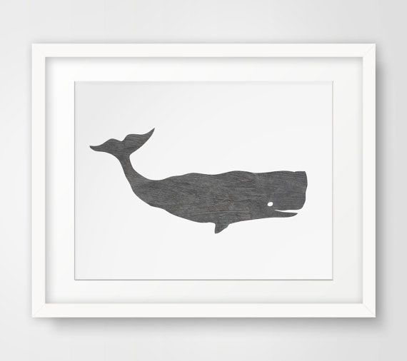 INSTANT DOWNLOAD: Grey Whale Print - Printable Art    ===    Print out this modern wall artwork from your home computer or local print shop to