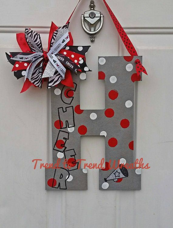 Cheer Letter, Cheerleading Wall Decor, Cheer Gift, Cheer Coach, Pom Letter, Pom…