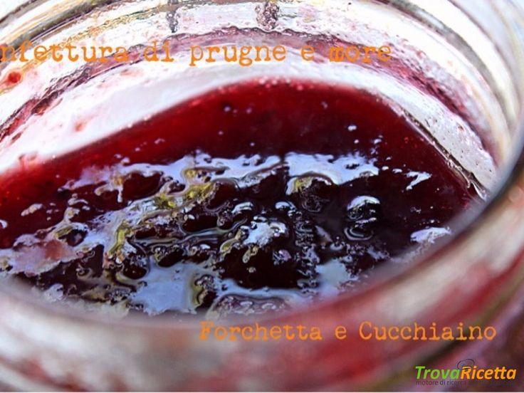 Confettura di prugne e more  #ricette #food #recipes