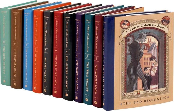A Series of Unfortunate Events...brings me back to middle school. Loved these books!