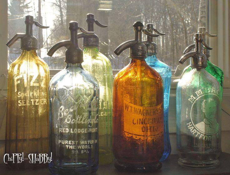 antique seltzer bottles | ChiPPy! - SHaBBy!: **ViNtaGe SELTZER BOTTLES** not tooooo SHaBBy!!!